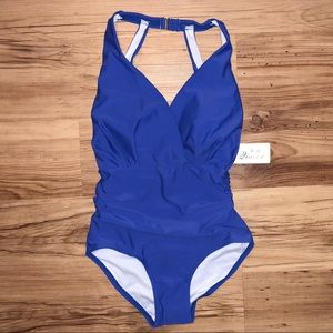 👙NWT Qiaoer Blue One Piece Swimsuit size S